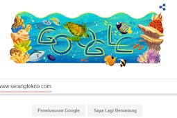 Logo Baru Google Pencarian Spesial ulang tahun ke 27 Taman Nasional Bunaken