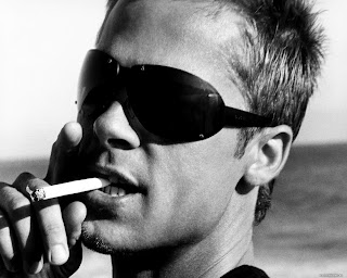 Brad Pitt With Sunglasses Black and White Photography HD Wallpaper