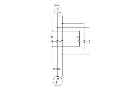 Cara Membuat Rangkaian Kontrol Forward Reverse Untuk Motor Listrik