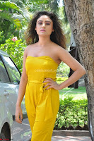 Sony Charishta In a Yellow Jump Suit Sleevelss Deep neck Beautiful Actress ~  Exclusive 020.jpg