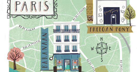 Paris Map for Metro Newspaper