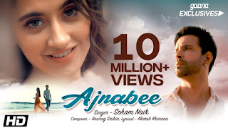 Presenting Ajnabee lyrics penned by Akarsh Khurana. Ajnabee song is sung by Soham Naik. Song video features Aamir Ali & Sanjeeda Sheikh.