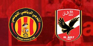 {انتهت المباراه}  مباراه الاهلي والترجي التونسي بالتعادل السلبي 0-0 والتي اقيمه في استاد المفاولون العرب في مصر