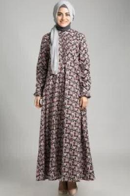 Gambar busana muslim motif syar'i modis