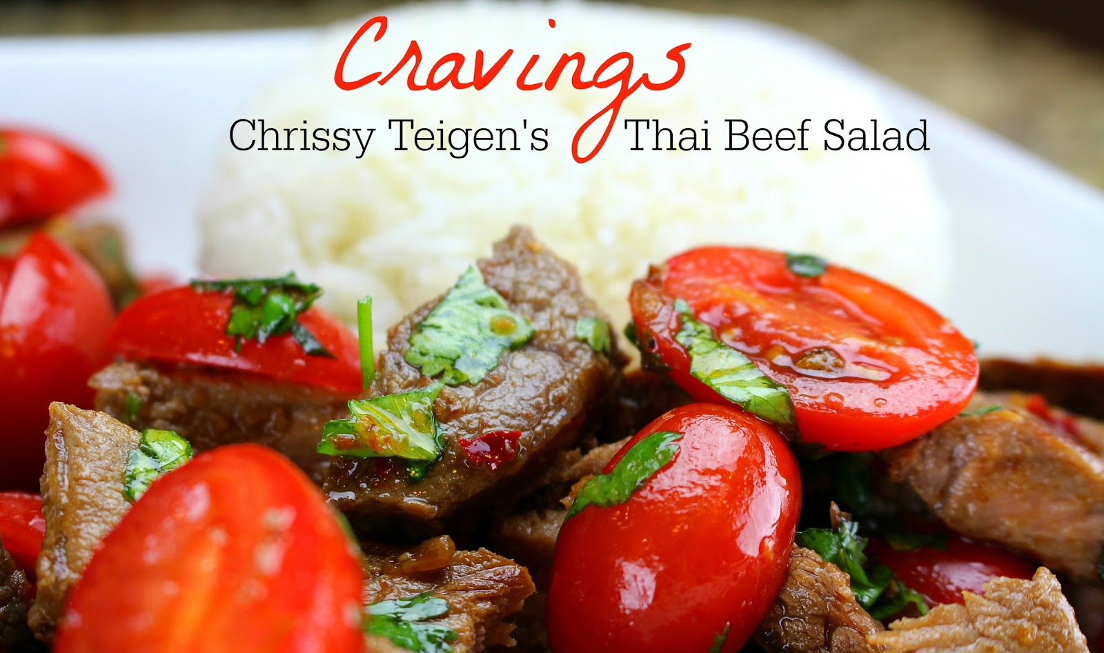Cravings chrissy teigens thai beef salad when chrissy teigen released her new book cravings i went to three different stores to get a copy target lied to me twice when they said they would hold forumfinder Images
