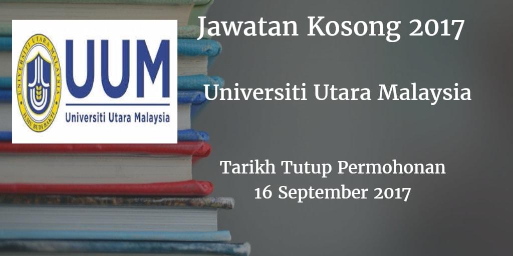 Jawatan Kosong UUM 16 September 2017
