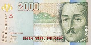 フランシスコ・デ・パウラ・サンタンデルの紙幣