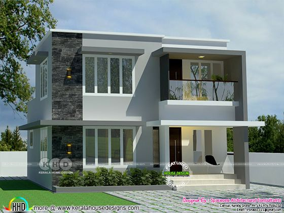 1200 sq-ft 4 bhk flat roof house plan