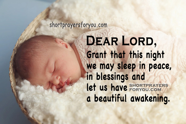 Good Night Short Prayer, Bedtime prayer for the family, prayer before going to sleep by Mery Bracho