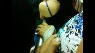 คลิปคนแก่ลวนลามสาวบนรถเมล์ ผู้หญิงยืนเฉยไม่กล้าร้องเลยโดนจับนมฟรีๆ