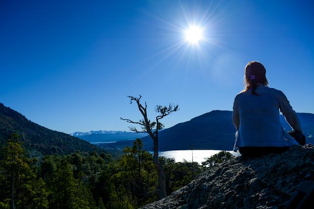 Sol do meio dia em Bariloche