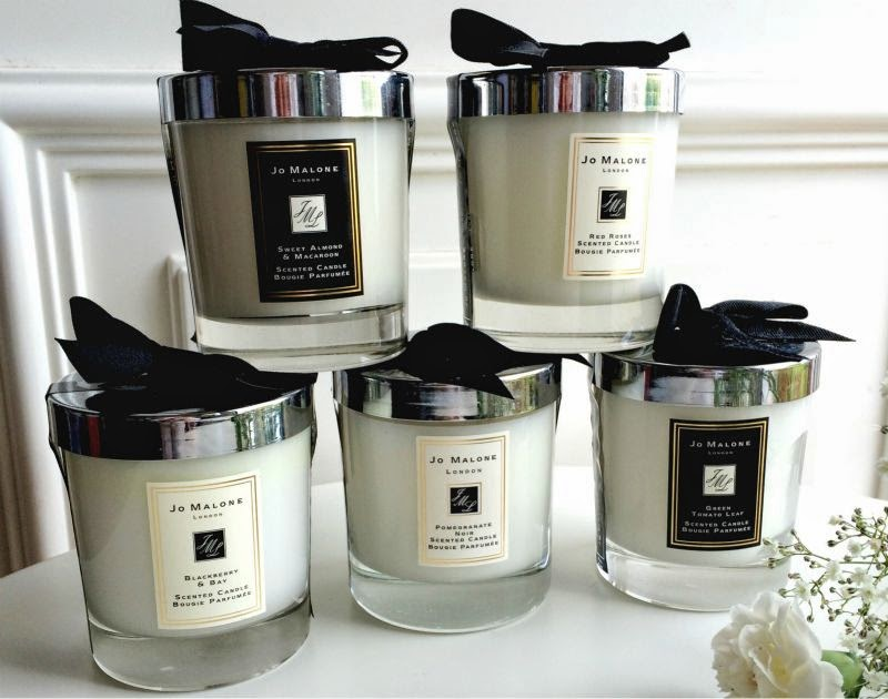 Home Scents Jo Malone Candles Black and White Design Packaging English Pear and Freesia
