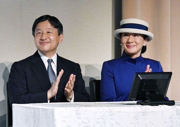 Crown Prince Naruhito and Crown Princess Masako attended the International Cosmos Prize 2017 symposium of Expo '90 Foundation
