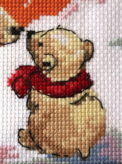 вышивка медвежонок