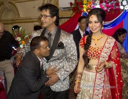 rajesh hamal and madhu bhattarai wedding, jitu nepal