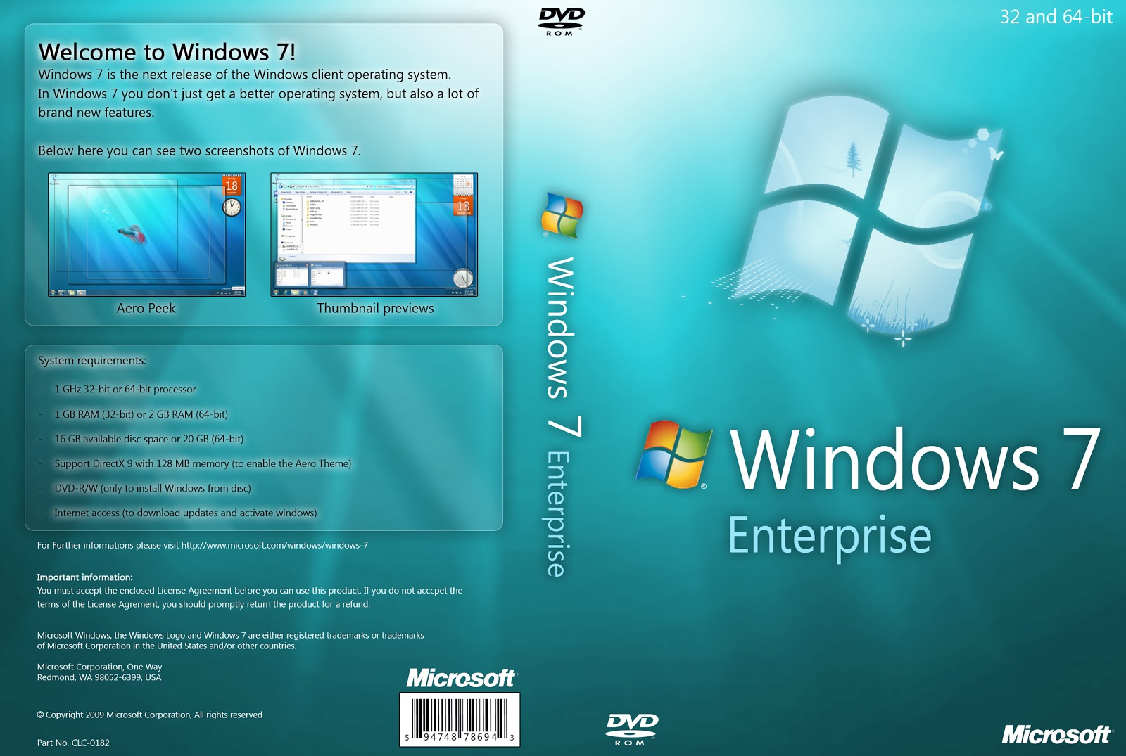 Free Download Windows 7 Enterprise 32 64 Bit Software Or