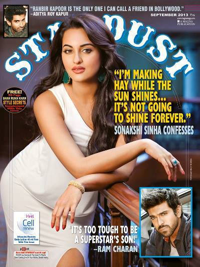 Sonakshi Sinha on the Cover of Stardust September 2013