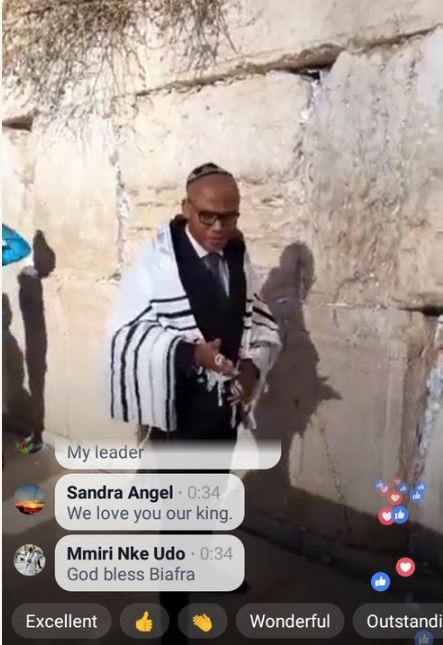 IPOB Leaders Nnamdi Kanu Seen Praying In Israel For The 2nd Time..Pictures Emerges!