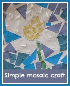 Simple flower mosaic craft for children