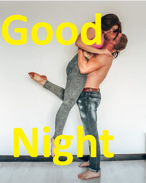 good night pic with kiss