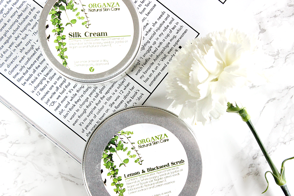 Organza Natural Skin Care Silk Cream & Lemon and Blackseed Scrub review