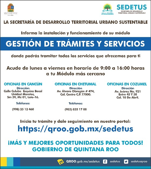 Ofrece Sedetus Módulos De Gestión De Trámites Y Servicios En