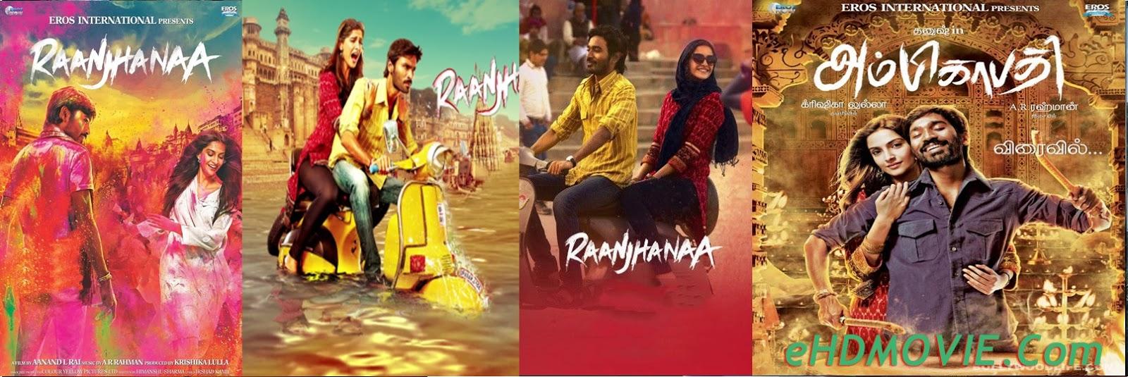 Raanjhanaa 2013 Full Movie Hindi 720p – 480p ORG BRRip 500MB - 1.2GB ESubs Free Download