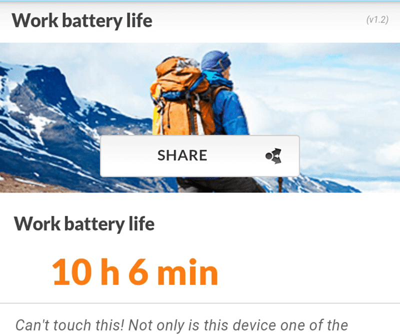 Long battery life achieved!