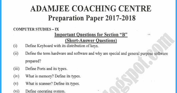 Adamjee Notes For Class 11 Pdf Download