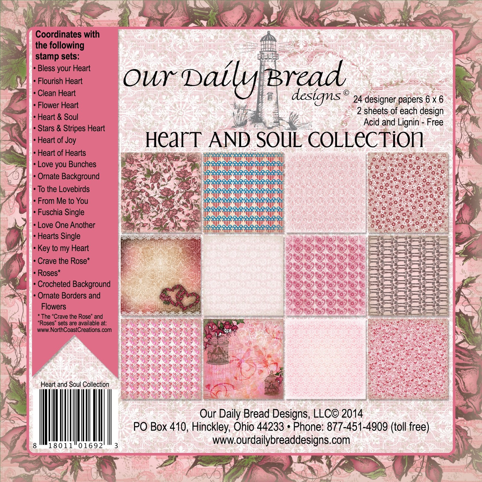 OUR DAILY BREAD DESIGNS HEART AND SOUL PAPER COLLECTION