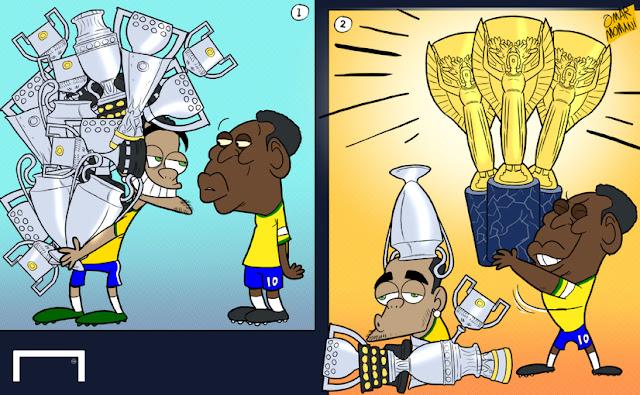 Dani Alves vs Pele