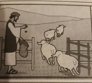 Pastor contando ovejas
