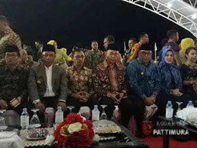Marga Taufiq dan Staff Kodam Pattimura Hadiri MTQ XXVIII di Namlea