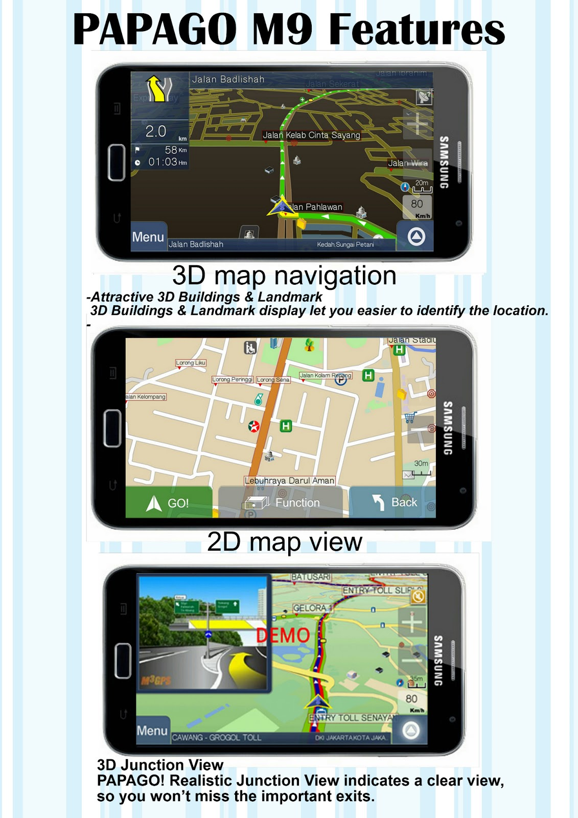 software library papago m9 gps navigation for all android. Black Bedroom Furniture Sets. Home Design Ideas