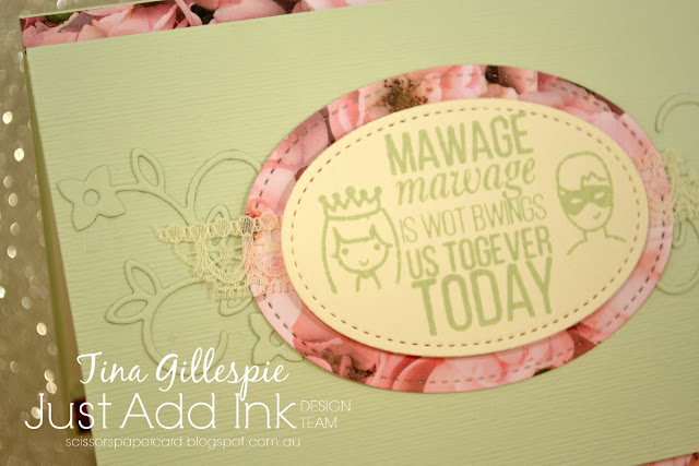 scissorspapercard, Stampin' Up!, The Ink Road, Just Add Ink, As You Wish, Beautiful Bouquet, Petal Promenade DSP, Well Written Framelits, Subtle 3DTIEF, Stitched Shapes Framelits