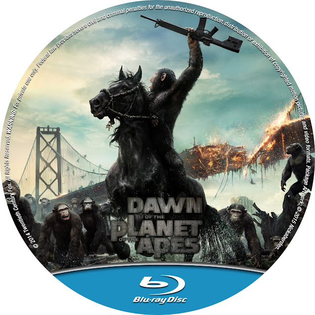 Dawn Of The Planet Of The Apes Bluray Label