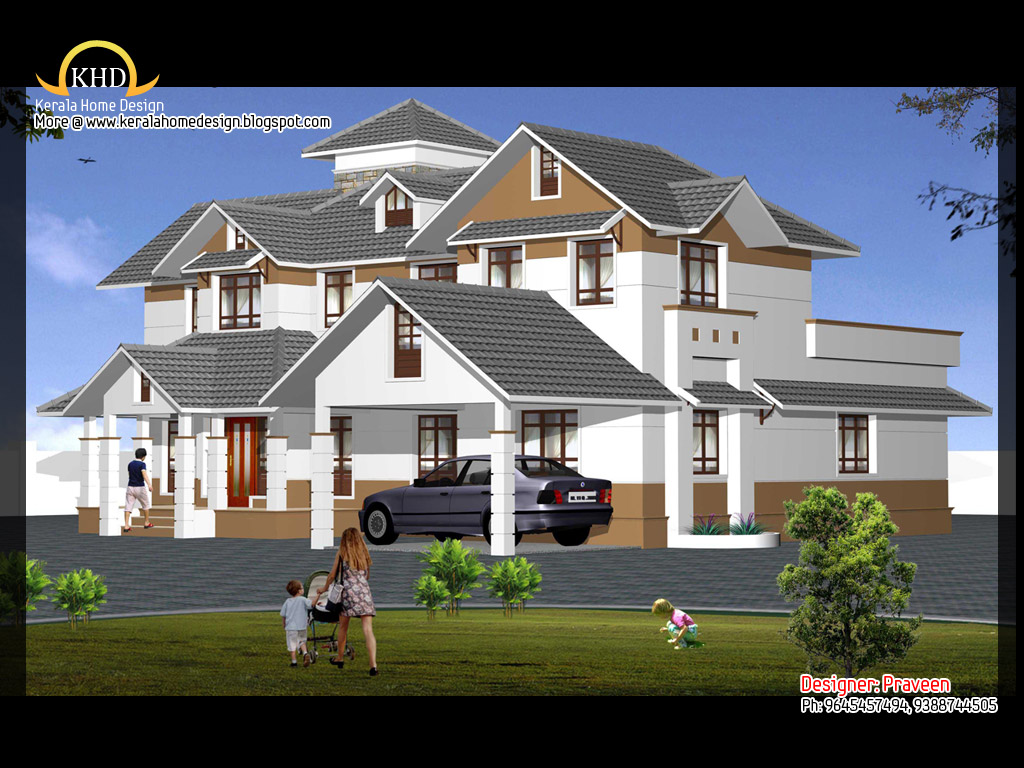House elevation and plan 2900 sq ft kerala home design for Single floor house elevations indian style