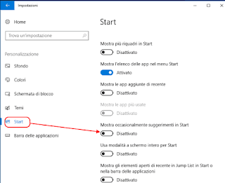 Windows 10 - Personalizzare menu START