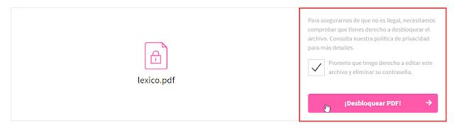 Desbloquear PDF y eliminar restricciones en línea