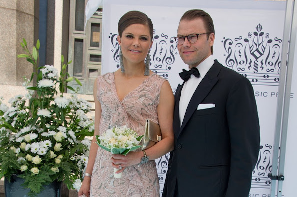 Queen Silvia of Sweden and King Carl Gustaf of Sweden, Crown princess Victoria of Sweden and Prince Daniel attended the ceremony of Polar Music Prize