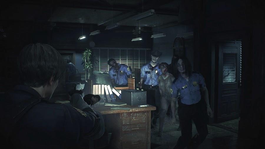 resident evil 2 remake capcom rpd leon zombie