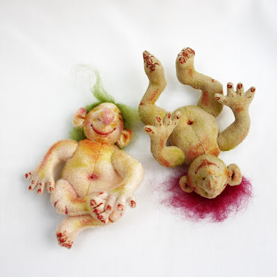 baby Troll art dolls