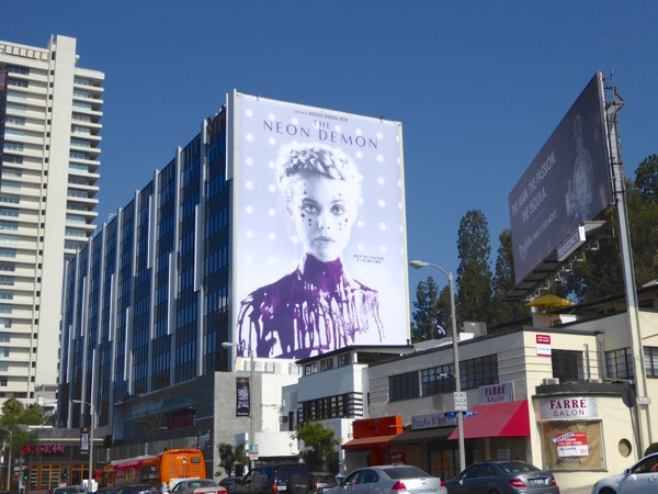 Neon Demon giant billboard