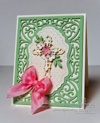 Our Daily Bread Designs, Vintage Flourish Pattern Die, Ornamental Cross, Fancy Foliage, Grace Nywening