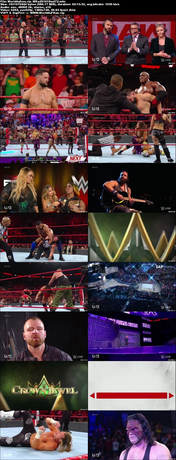 WWE Monday Night RAW 29 OCTOBER 2018 720p HDTV 1Gb x264 world4ufree.vip tv show wwe monday night raw wwe show monday night raw compressed small size free download or watch onlne at world4ufree.vip