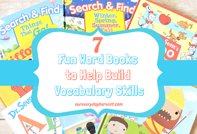 Kid's Word Books that Promote Building Vocabulary Skills