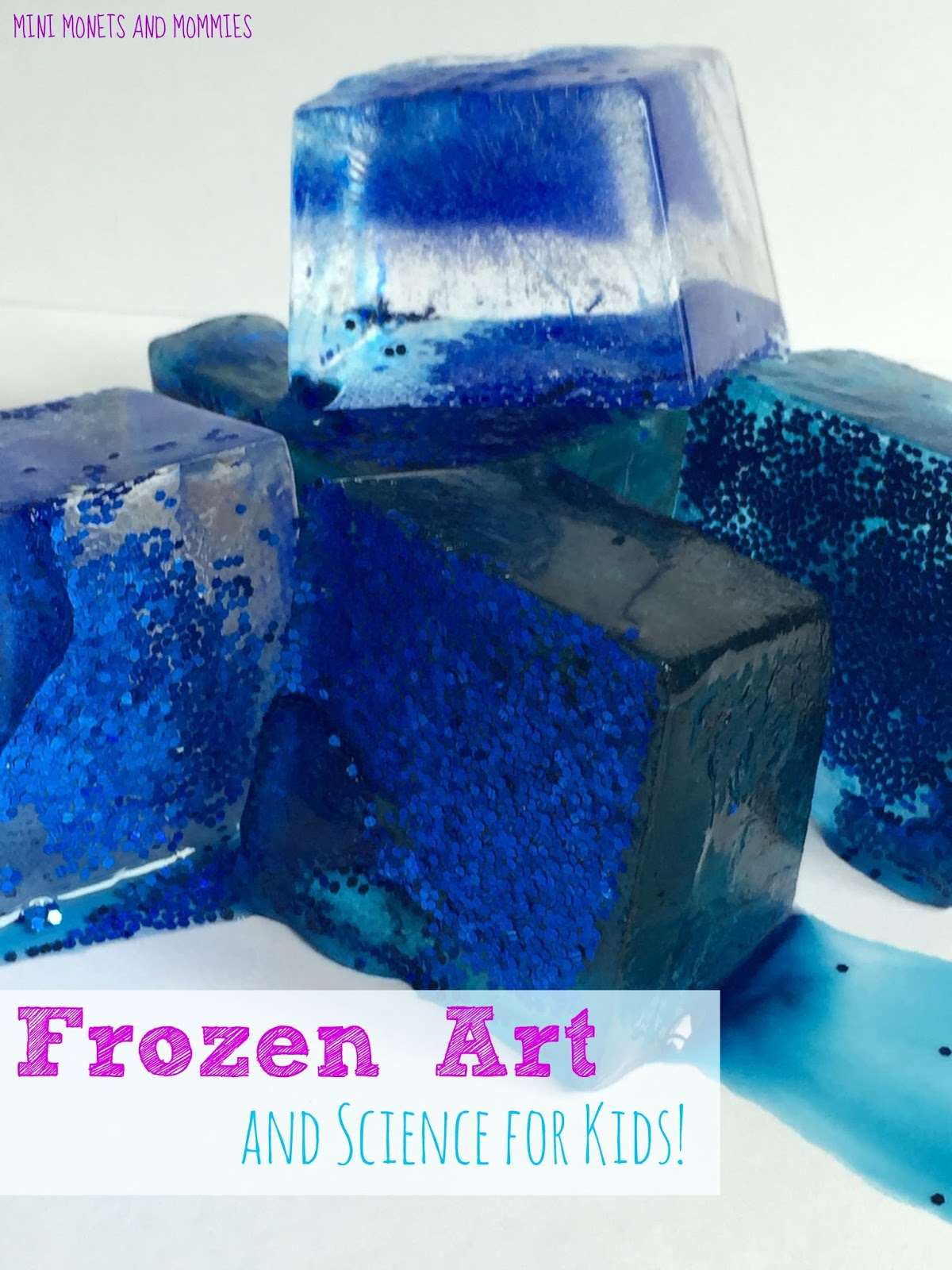 Mini Monets And Mommies Frozen Glitter Ice Paint For Kids