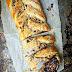Dark Chocolate Puffed Pastry Braid With Hazelnuts