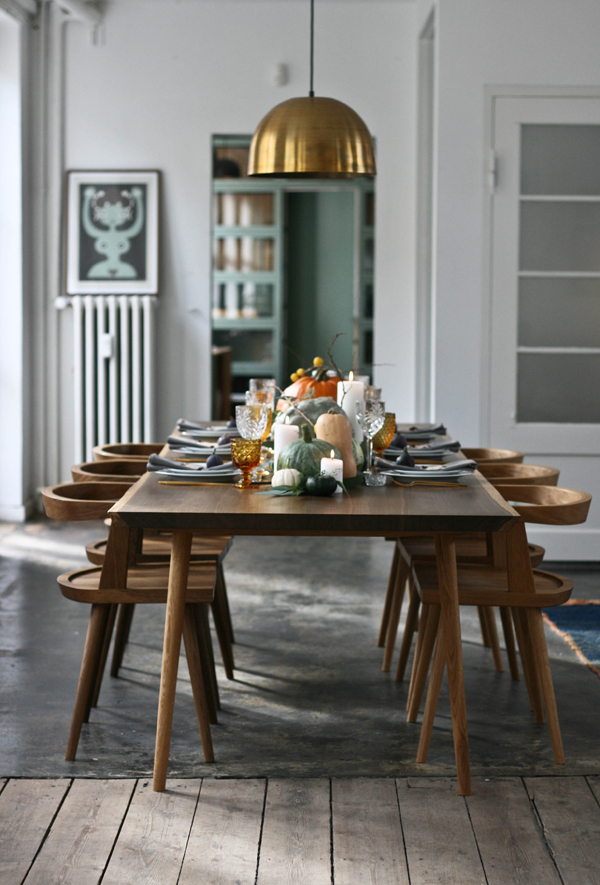 Autumn table setting, A Table Story, via Scandinavian Love Song