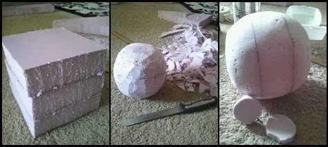 Scary Vampire Teddy Head Construction Tutorial Detailed Description Corresponds With Picture Above